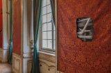 Sál předků, fotografie na barytovém papíře, žakárové tkaniny