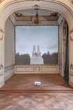 Podium, site-specific installation, The Rabbit and the Queen, Prague City Gallery, Colloredo-Mansfeld Palace, Prague