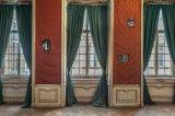 Hall of Ancestors, photographs on Baryta paper, jacquard fabric
