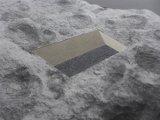 Sediment, b/w  photograph, colored sands (detail)